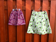 mother-daughter spring skirts (susanstars) Tags: coatsclark sewingsecrets barcelona amybutler barcelonaskirt sewing skirts spring