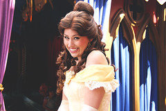 Princess Fantasy Faire - Belle (tiathelostgirl) Tags: disneyland disney belle beautyandthebeast princessfantasyfaire princessbelle