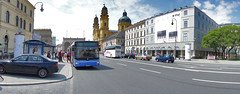 The Bus Stop, a wider view (The^Bob) Tags: panorama germany munich busstop odeansplatz