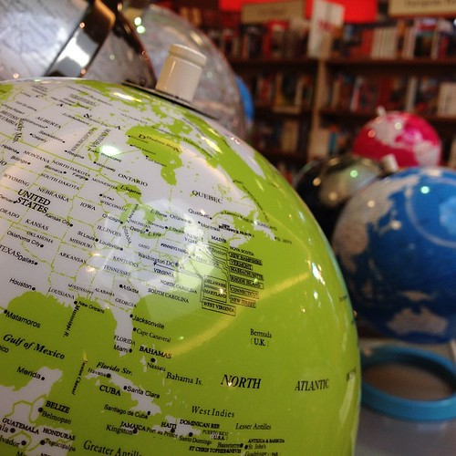 Strangely dig these hyper coloured globe by jfingas, on Flickr