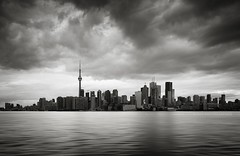 Toronto B&W (Beboy_photographies) Tags: city blackandwhite bw panorama white toronto canada black skyline buildings photography cityscape skyscrapers panoramic manual dri hdr blending ndr photographies beboy manualblending