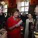 Chris Fujiwara and Fiona Hyslop at the Edinburgh Castle Reception