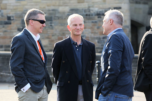 Ken Hay and Bob Last with a guest at the Edinburgh Castle Reception