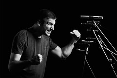 Hulk VS Microphone-zilla (Rhy@n) Tags: music mike alex studio blackwhite pacific battle microphone fihgt pacificstudiosofia