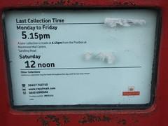 ME15 111 detail (kenjonbro) Tags: uk red shop kent postoffice postbox letterbox royalmail loose pillarbox kenjonbro fujifilmfinepixhs50exr me15111