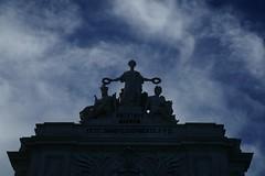 Glory, Valour, Genius (Karyatis) Tags: sculpture portugal monument architecture arch lisboa lisbon ruaaugusta arco terreirodopao karyatis