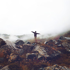 Being alive (Wandering Heart) Tags: red mountains nature grass fog clouds canon landscape freedom austria rocks meetup happiness alive breathtaking 60d wanderingheart autfg autfg2013 annaheimkreiter daviduzochukwu