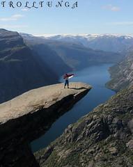 Merah Putih fluttering at TrollTunga (NamiQuenbyBusy) Tags: norway norge hordaland bapak odda norwegia trolltunga apsutowijoyo