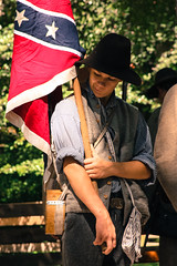 Rethinking Sides (Harpo42) Tags: boy summer history colors march costume newjersey flag think nj august historic confederate event civilwar capemay reenactment reenactors 2012 reenact encampment coldsprings