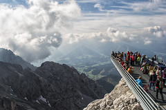 Above the Alps (Gikon) Tags: mountains alps clouds austria landscapes nikon 1855mm dachstein skywalk gikon d3100