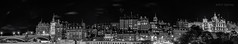 Old Town Panorama (Damon Finlay) Tags: city blackandwhite panorama monochrome skyline landscape scotland edinburgh fuji centre historic oldtown citycentre fujixe1 fujinonxf1855mmois