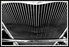 Grill (DancingTerrapin) Tags: blackandwhite cars ford classiccar grill