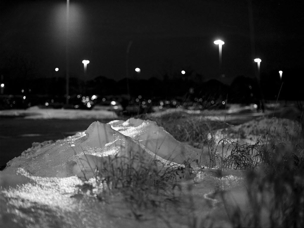 Sparkling Snow At Night