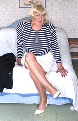 blobobmatel-004 (fionaxxcd) Tags: grandma tgirl bust tranny blonde redlips pantyhose crossdresser stilettoes bangles oap rednails trannie pensioner mtf whiteskirt m2f tgurl