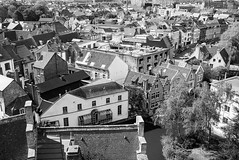 Gent rooftops (David Crook) Tags: street leica urban blackandwhite zeiss rooftops belgium m ghent gent 3514 distagon carlzeiss zm leicam distagont1435 distagon3514zm
