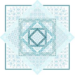 Quakerish (tintocktap) Tags: blue crossstitch cross stitch craft f stitching