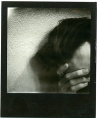 Introspection, Fear and Shame (Sinuous Syntax) Tags: selfportrait male film polaroid sx70 fear mint shame selfie introspection imposssible slr670m
