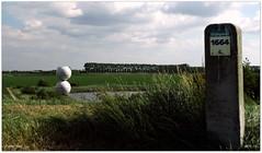 Polder Peil DSCI7188 (aad.born) Tags: holland concrete nederland zeeland sphere goes spheres paysbas landart beton niederlande  2015   zuidbeveland   michaelbeutler kmwp wilhelminapolder dijkpaal polderpeil aadborn koninklijkemaatschapdewilhelminapolder viering200jaarkmwp  beveland  likesunssettingthreemetersabovesealevel