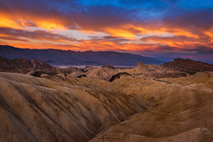 Blazing Zabriskie (Jim Patterson Photography) Tags: california deathvalley inyocounty nationalpark zabriskiepoint badlands dawn desert fierysky fineart fineartimages fineartphotography fineartphotos fineartprints geology landscape morning natural nature outdoors photography stock stockimages stockphotography stockphotos sunrise travel jimpattersonphotographycom jimpattersonphotography seatosummitworkshops seatosummitworkshopscom