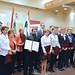 A migránsválság idején tanúsított humanitárius munkájuk elismeréseként kitüntetett hat karitatív szervezet képviselői