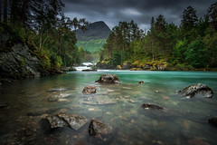 Valldla (Ornaim) Tags: river nature landscape mountain norway norge norvege rocks long exposure green water tree forest wild travel vacation summer north europe wide angle nikon d610 1635 afs lee filter nisi nd gnd grad hard tripod benro