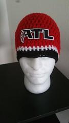 Atlanta Falcons Inspired Handmade Crochet Beanie (warmcozydesigns) Tags: atlantafalcons riseup falconsnation falconsfans handmadegifts fashion christmasgifts