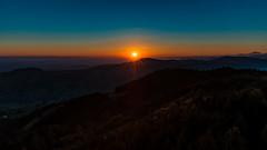 Sunrise in Austria (Ralph Punkenhofer) Tags: berge landschaft outdoor damberg lamberg landscape morgenstimmung sonnenaufgang steyr sunrise morgenrot blue orange golden hour nature wonder wunder pure light here comes sun