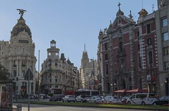 Calle Gran Via (shottwokill) Tags: europe spain nikon madrid 28300 d800 cityscape travel nikkor traffic crowd spanish metropolis city