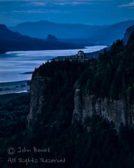 Vista House at Dusk (saganorth2000) Tags: columbiarivergorge oregon river vistahouse dusk twilight mountain portlandwomensforumpark cliff clouds