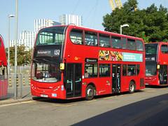 GAL EN27 - LK08FKX - NORTH GREENWICH STATION - WED 14TH SEPT 2016 (Bexleybus) Tags: go ahead goahead london north greenwich bus station adl dennis enviro 400 en27 lk08fkx firstbus dn33501 tfl route 132
