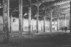 The Visitors (gregador) Tags: manchester ny roundhouse railroad decayed abandoned urbex urbanexploration urbanexploring blackandwhite visitors