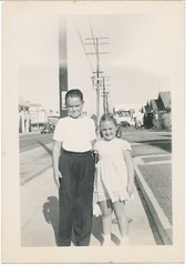 1937 (When We Were Little) Tags: boy girl outdoors 1937 cfhaste cars