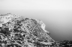 Down the sea (lorenzoviolone) Tags: bw blackwhite blackandwhite d5200 dslr monochrome nikon nikond5200 polaroid665 reflex seascape vsco vscofilm cliff cliffs cliffside dingli dinglicliffs horizon horizononthewater islands seaside streetphoto streetphotobw streetphotography travel:malta=aug2016 water siggiewi malta fav10