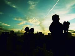 chemtrail sunset (dr.milker) Tags: taiwan taipei color chiangkaishekmemorialhall sunset clouds chemtrail tourist photographer landscape            typhoon   dusk