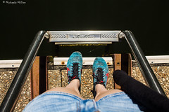 Travels (MichaelaSMillion) Tags: feet foot shoe shoes dock deck ladder step steps leg legs girl woman human person people color colors colorful nike dark light bright day daylight daytime