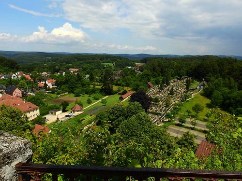 Gößweinstein - Blick auf den Klostergarten