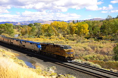 AMTRAK Train Five (Narodnie Mstiteli) Tags: amtrak californiazephyr reno nevada truckeeriverhighlands passengertrain railway tren rails train5 westbound