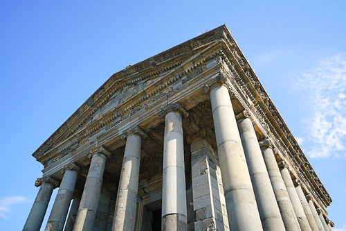Pediment of Garni Temple, Armenia