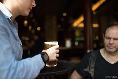 La bire, la serveuse & le client (LACPIXEL) Tags: serveuse waitress camarera bire beer cerveza client cliente customer bar pub paris frogpub capitale france couleurs colores colours nikon nikonfr nikonfrance inside intrieur lumirenaturelle luznatural naturallight flickr lacpixel