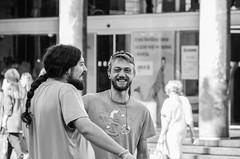 Guys from the street (shpongleri) Tags: guys street black white rijeka laughter laughs earphones glasses hail long 6 life