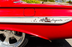 Updated original (GmanViz) Tags: gmanviz color car automobile detail 1961 chevrolet impala fender wheel tire badge script nikon d7000