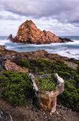 Natural Bowl (Crouchy69) Tags: sunrise dawn landscape seascape ocean sea water coast rocks plants clouds sky sugarloaf rock dunsborough western australia