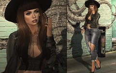 004 (Yaya Levi | Obsessed With Dress) Tags: secondlife sl virtual online fashion blog blogger rama atomic hair catwa maitreya absence tattoo amitomo jacket addams spirit jae tank liaison vista animations bento hands old street