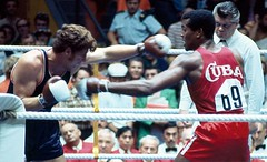 #Duane Bobick of the United States and Teófilo Stevenson of Cuba compete in the heavyweight boxing quarterfinals of the 1972 Summer Olympics in Munich, West Germany [1280x780] #history #retro #vintage #dh #HistoryPorn http://ift.tt/2f4JCKK (Histolines) Tags: histolines history timeline retro vinatage duane bobick united states teófilo stevenson cuba compete heavyweight boxing quarterfinals 1972 summer olympics munich west germany 1280x780 vintage dh historyporn httpifttt2f4jckk