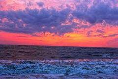 Beach marari (Rajavelu1) Tags: beauty beautyofnature beach sand water arabiansea art artland aroundtheworld creative mararibeach kerala india sunset colourfullsky colours blue red canon60d
