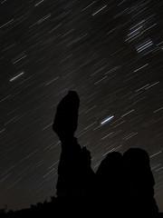 Star Trails (Michael Zahra) Tags: usa america star stars trails night le longexposure arches park utah 645z 645 pentax ricoh milkyway mediumformat astro astrophotography experiment