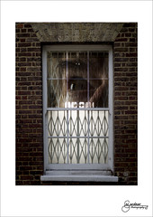 Is the world still there? (M Gardner Photography) Tags: window composite whiteborder watching