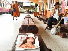 UBON RATCHATHANI railway station (Araleya) Tags: instagramapp square squareformat iphoneography uploaded:by=instagram monk buddhistmonk railwaystation beautfiullife araleya composition thais thailand lifestyle ubonratchathani