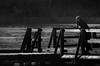 ponderazione (pamo67) Tags: pamo67 uomo man riflessioni reflection pondering lago lake pontile pier legno wood parapetto parapet acqua water bn blackwhite monochrome bw outdoors profilo profile people