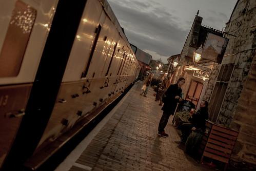 Night rolls into Bridgnorth